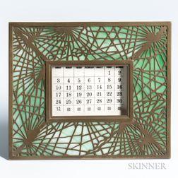 Tiffany Studios Pine Needle Pattern Calendar Frame