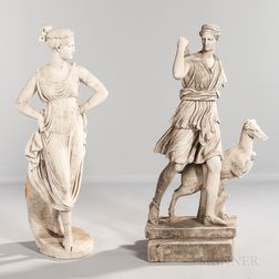 Two Grand Tour Marble Sculptures