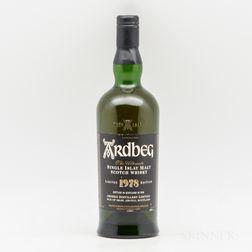 Ardbeg 1978, 1 750ml bottle