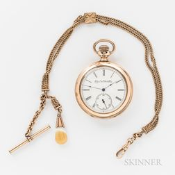 Elgin Gold-filled Open-Face Watch and Chain