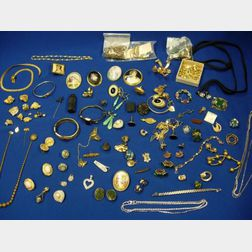 Group of Victorian Gold-filled, Miscellaneous Costume, and Other Jewelry