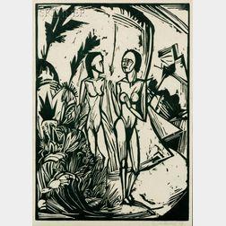 Erich Heckel (German, 1883-1970)      Frauen am Strand