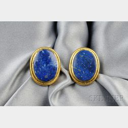 18kt Gold and Lapis Cuff Links, Buccellati