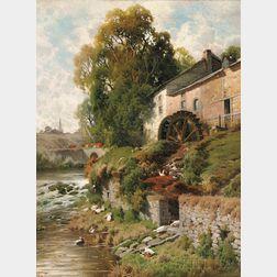 Jacques Janssens (Belgian, 1809-1898)      Le Moulin à eau