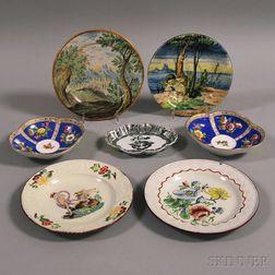 Seven Ceramic Plates