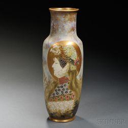 Amphora Work Reissner Art Nouveau Porcelain Portrait Vase