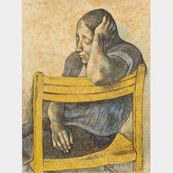Francisco Zúñiga (Mexican, 1912-1998)      Muchacha en una silla