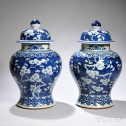 Pair of Temple Jars and Covers