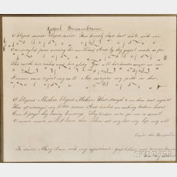 """Gospel Remembrance"" Manuscript Shaker Hymn"