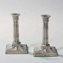 Pair of Edward VII Sterling Silver Candlesticks