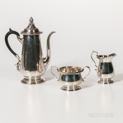 Three-piece Redlich & Co. Sterling Silver Coffee Service
