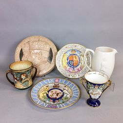 Six English Commemorative Ceramic Items