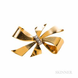 Retro 14kt Gold Brooch, Larter & Sons