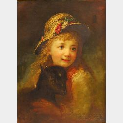 Anglo/American School, 19th Century      Girl with Lamb.