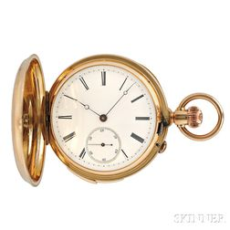 18kt Gold Hunter Case Quarter-hour Repeating Watch
