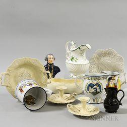 Twelve Pottery Items