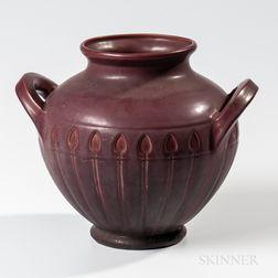 Van Briggle Pottery Handled Arrowhead Jar