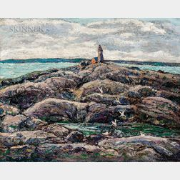 Ernest Lawson (American, 1873-1939)      Peggy's Cove