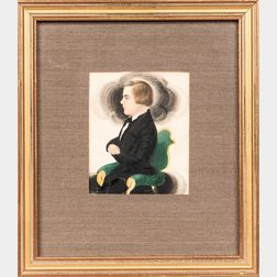 James Sanford Ellsworth (American, 1802/03-1874)      Miniature Portrait of a Young Man