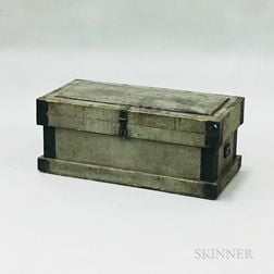 Gray-painted and Mounted Carpenter's Box