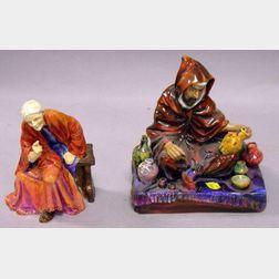 Worcester Porcelain Figure and a Royal Doulton Porcelain Figure