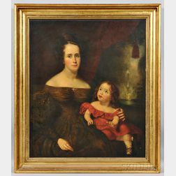 School of Thomas Sully (Pennsylvania/England, 1783-1872)      Portrait of a Mother and Her Child