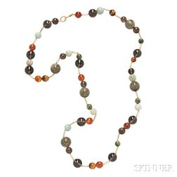 18kt Gold and Colored Bead Necklace, David Yurman