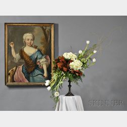 Blooms for Books      A Floral Interpretation of the French School Portrait Gentlewoman as Diana.