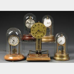 Collection of Five Electric Clocks