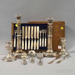 Group of Assorted Silver and Silver-plated Flatware and Tableware