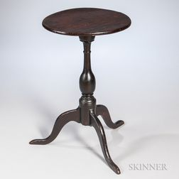 Black-painted Cherry Candlestand