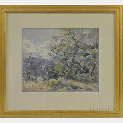 Edward Darley Boit (American, 1842-1916)      Hillside Landscape