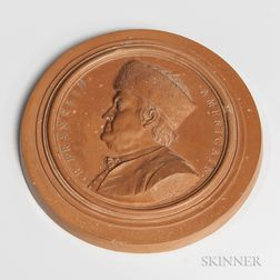 Terra-cotta Medallion of Benjamin Franklin