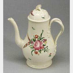 Leeds-type Creamware Coffeepot and Cover