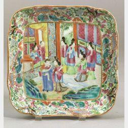 Square Rose Mandarin Porcelain Dish
