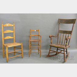 Three Assorted 19th Century Chairs