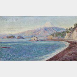 Lilla Cabot Perry (American, 1848-1933)      Fuji from Lava Beach