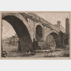 Luigi Rossini (Italian, 1790-1857)      Veduta di Ponte Fabrizia