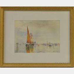 Walter Franklin Lansil (American, 1846-1933)      Venice Lagoon