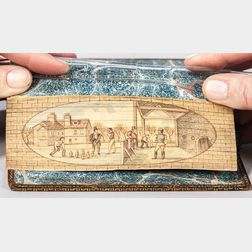 Fore-edge Painting, Men Playing at Bowls.