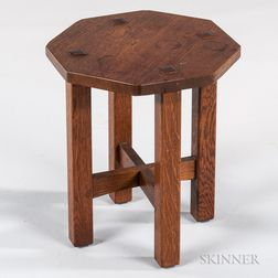 L. & J.G. Stickley Cut-corner Tabouret