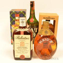 Mixed Scotch, 1 750ml bottles 4 4/5 quart bottles