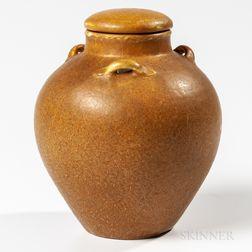 Grueby Pottery Lidded Jar
