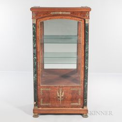 Empire-style Burlwood-veneered Ormolu-mounted Floor Vitrine