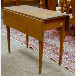 Federal Pine and Birch Drop-leaf Pembroke Table.