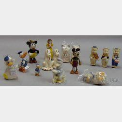Fifteen Assorted Small Disney Figures