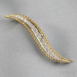 "18kt Gold and Diamond ""Flame"" Brooch, Van Cleef & Arpels"