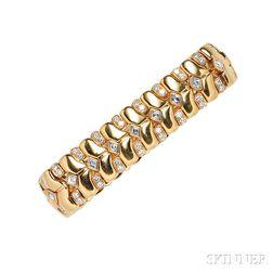 18kt Gold and Diamond Bracelet, Rene Boivin