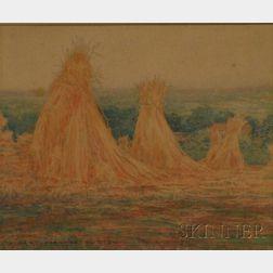 Albert Prentice Button (American, 1868-1931)      Haystacks.