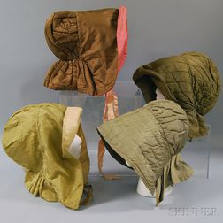 Four Quilted Bonnets